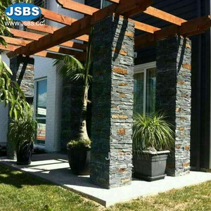 wholesale natural flexible slate gray exterior stone veneer wall panels stone sheets