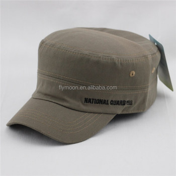 a749851b75c New Gray Vintage Distressed Cadet Hat Cap Military Army Patrol Adjustable  Hats