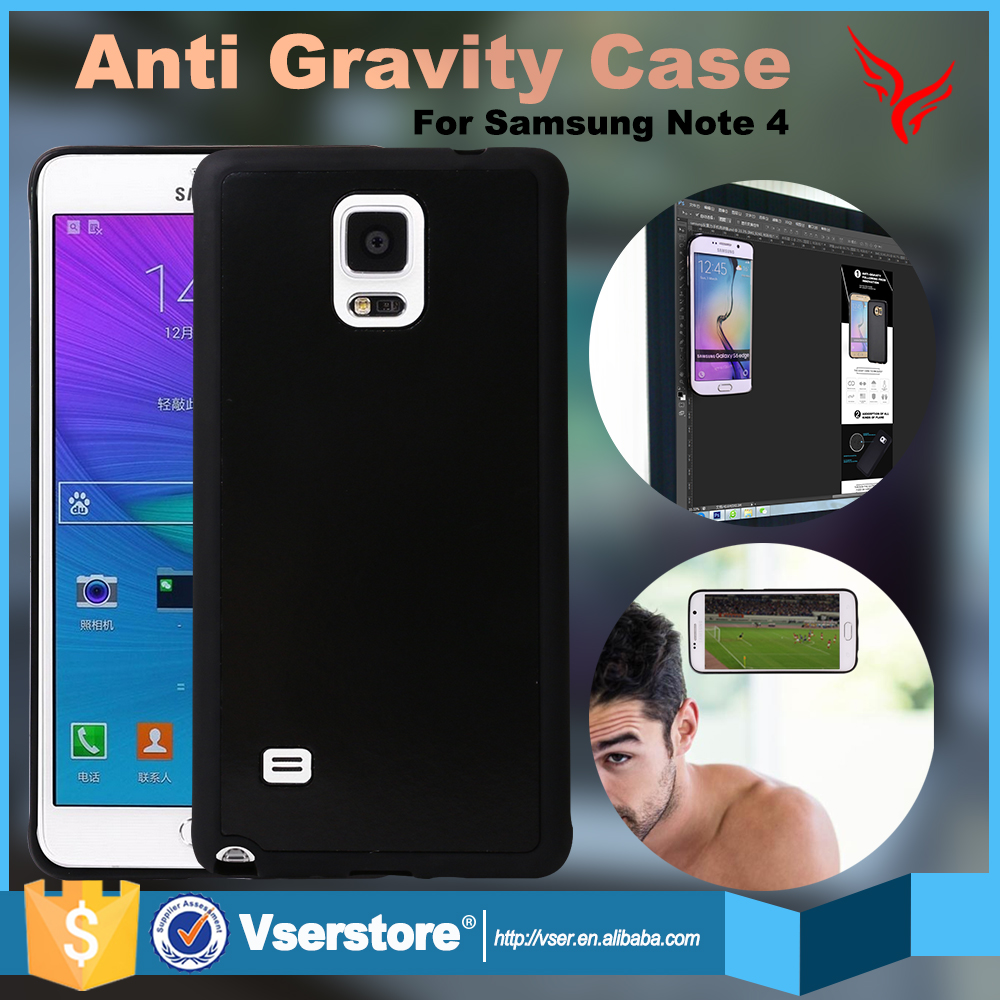 High quality nano suction magnetic anti gravity case for samsung galaxy Note 4