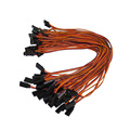 Free shipping 10pcs lot 300mm 30cm 60cm 26AWG RC servo extension Lead wire cable for Futaba
