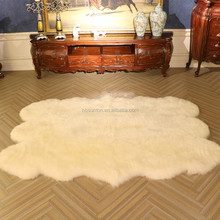 China factory wholesale 6p pure white tibetan sheepskin rug for Fashion Home Decorative