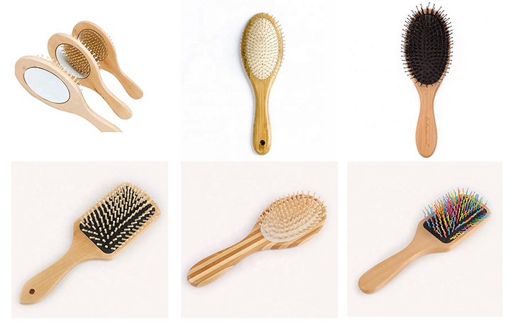 Wholesale Price Fashion Wooden Hair Comb Custom  Plastic Pins Airbag Massage Comb Wooden Baby Hair Brush And Comb Set