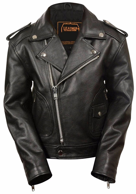 Dona Michi Kids Unixes Genuine soft Leather Jacket Outerwear Biker Jacket