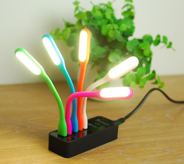 Slim LED desk light micro usb cable with led light