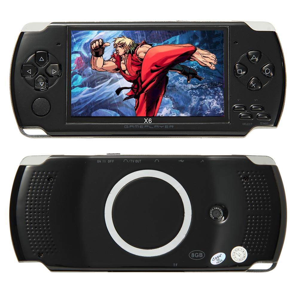 X6 32bits 4.3inch Portable Retro Handheld Video Game Console for GBA/Arcade/NES mini consola de juegos