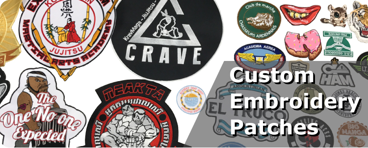 Wholesale custom embroidered brand patches