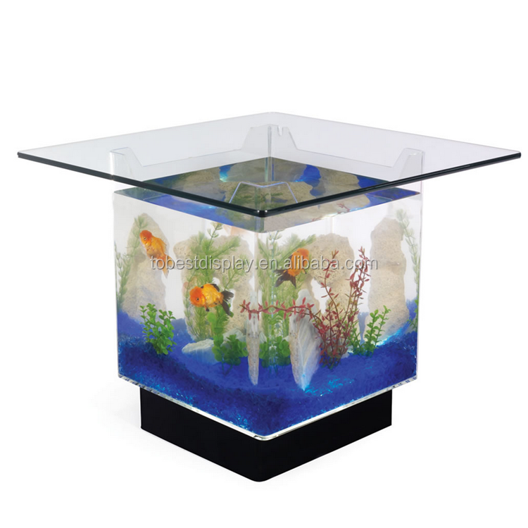 Acrylic Fish Tank Coffee Table,Plexiglass Fish Tank