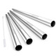 SS 304 Stainless Steel Wide Smoothie Straws Large Straight Frozen Drink Straw
