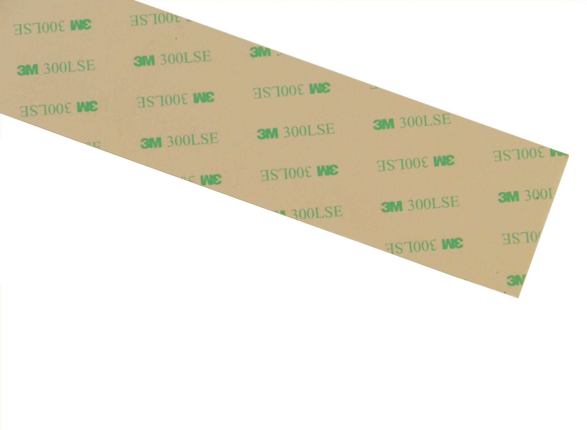 "36 inch long strips of 3M 9474LE 300LSE super-strong double-sided adhesive/adhesive transfer tape, 2"" or 4"" wide, ideal for attaching digitizers to phones and tablets. [9474-strips]"