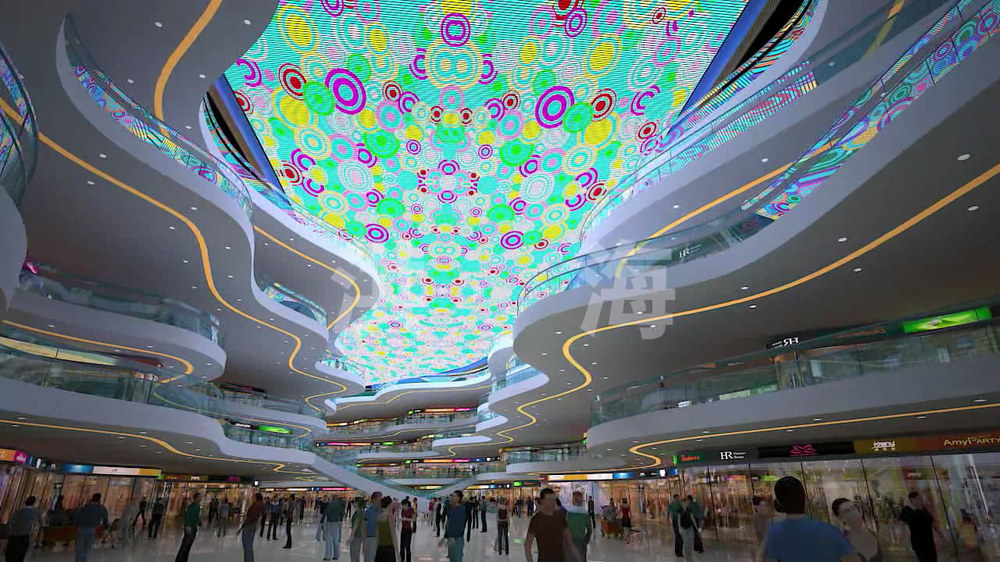Shopping mall ceiling full color moving led display led ceiling shopping mall ceiling full color moving led display led ceiling light aloadofball Images