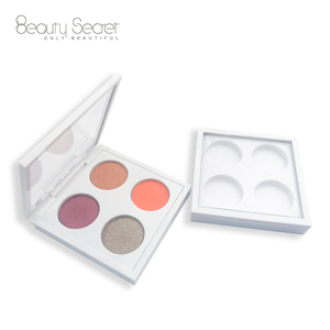 Custom Logo Palette Private Label 4 colors Eyeshadow Palette Custom Makeup Palette with Matte and Shimmer eyeshadow