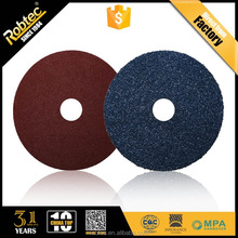 ROBTEC 5 inch Low Price fiber disc Abrasive Cutter for metal, INOX Fiber Disc for Grinding Stone