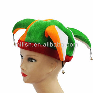 Party funny crazy celebrations Irish Ireland soccer football team supporter fans tall fun Jester Clown Hat MH-1750