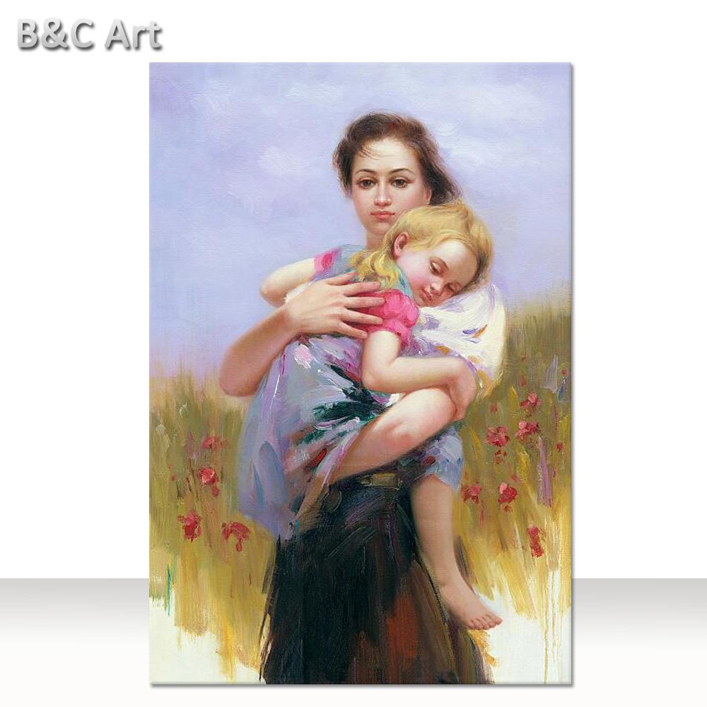 Anne Ve çocuk Yağlıboya Resim özet Modern Rakam Boyama Buy Soyut