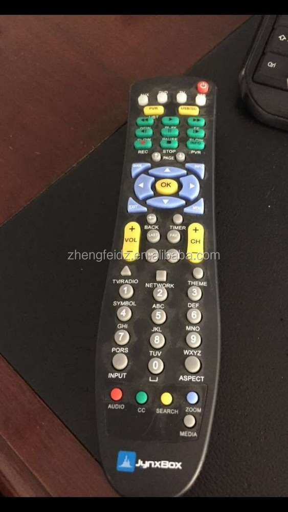 jynxbox universal remote control aux/dvd/tv/stb/sat/cable/usb/pvr