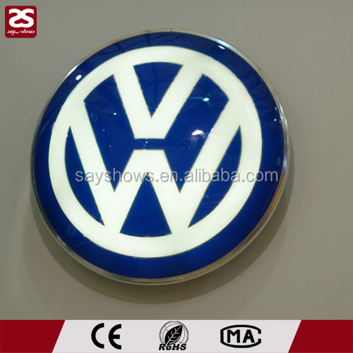 Outdoor round silk screen wall mounted led vacuum form light boxes