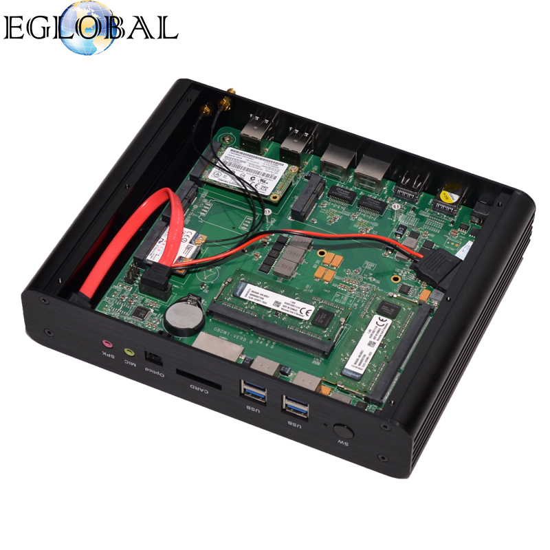 Eglobal Mini Pc Customizable OEM Service Processor I7 5500U Slim Pc Gaming 8GB RAM 256GB SSD Intel NUC Mini Computer