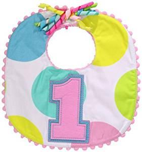 Mud Pie Baby-Girls Newborn First Birthday Girl Bib by Mud Pie