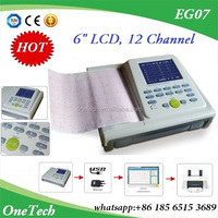 EG07-R Medical LCd ECG with 24hours Analysis, 12 Leads Heart Rate Monitoring Fukuda ECG