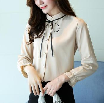 Stand Collar Blouse Designs : Zm a office shirt designs loose stand collar long sleeve
