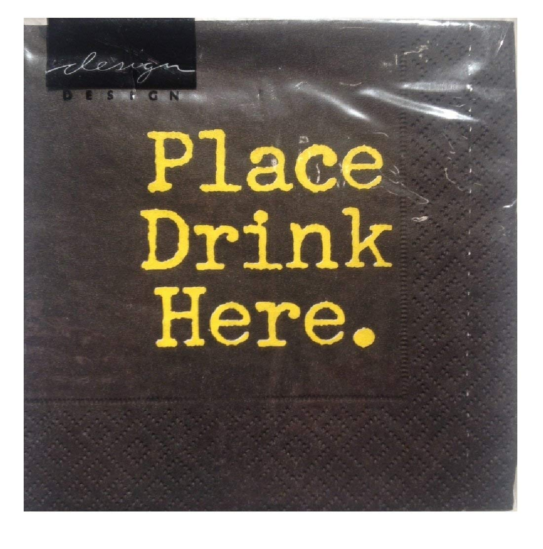 Design Design Place Drink Here. Cocktail Napkins