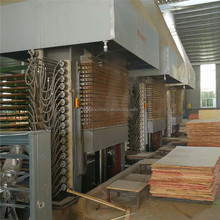 The most popular,two sides laminating funiture board hot press,mdf wood panel production line,laminating machine for USA