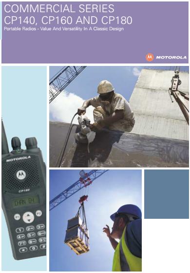 Motorola Two Way Radio Cp180 Mobile Phone Transceiver