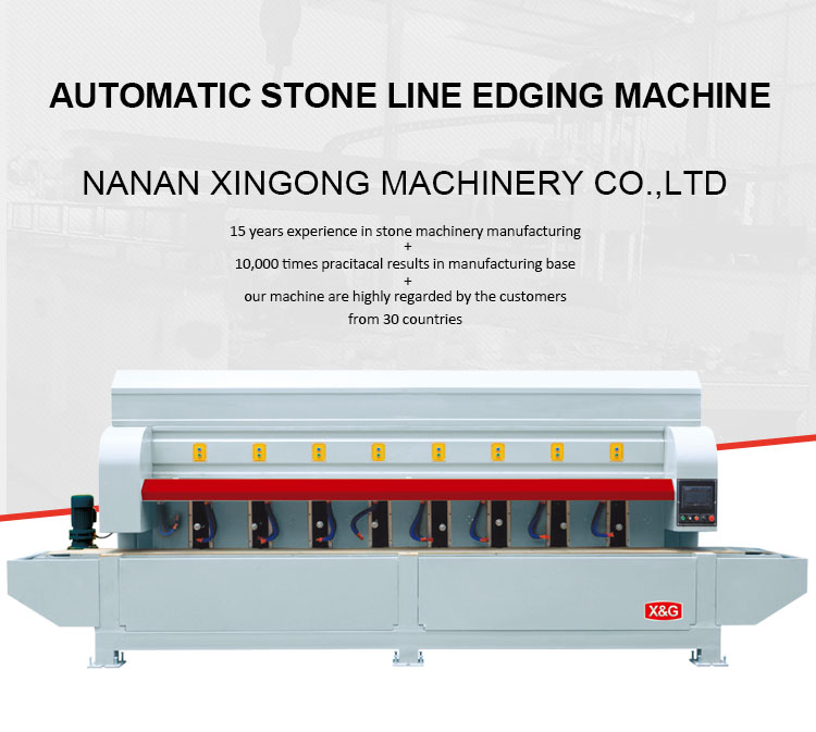 automatic granite stone edge line grinding machine