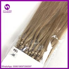 Pre bonded Type 100% remy human russian easy loop invisible cheap micro ring hair extension