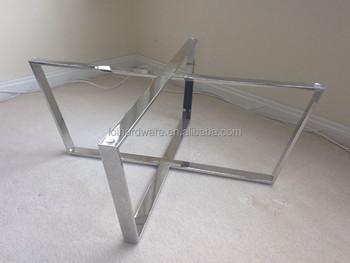 Chrome Metal Dining Table Base Frame