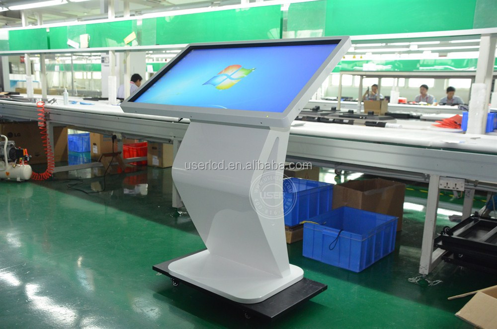 big screen horizontal 42inch full hd infrared double touch kiosk media ad player