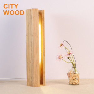 bedroom bamboo atmosphere led table lamp