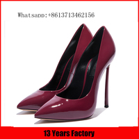 Luxurious style leather upper height thin heel women shoe/ladies shoes/platform for women in china