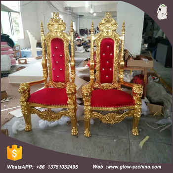 New Design Royal King Queen Throne Chair Cheap Design