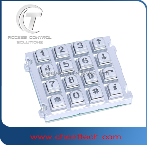 2015 hot selling door opener keypad vandal resistance illuminated keypad 4x4