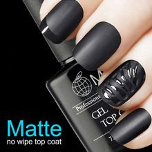 6 ml Matte top coat clásico matorral color polishnail pegamento gel superior con limpia