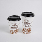 Mini 4oz 112ml expresso Biodegradable sustainable PLA corrugated Ripple wall paper coffee cups