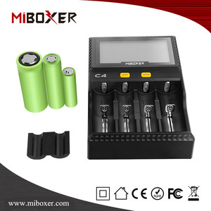 Miboxer C4 Battery Charger 18650 26650 AAA Bettery Charger li on Battery Charger