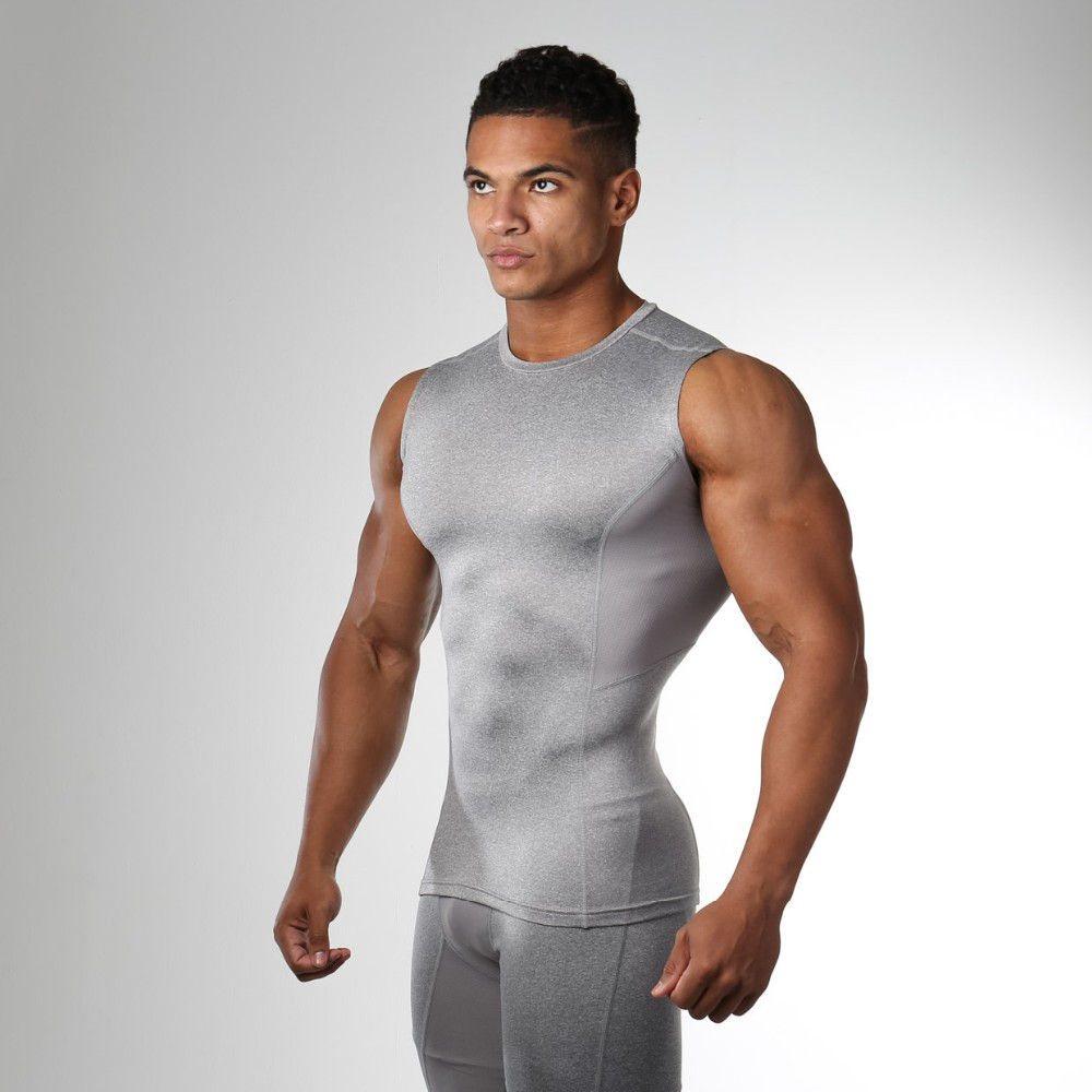 2017 newest high quality compression sleeveless t shirts for Compression tee shirts for men