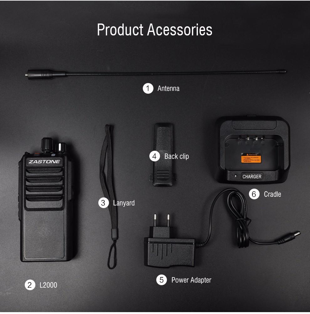Best handheld ham radio Zastone L2000 20W High Power UHF 400-480MHz walkie  talkie, View Best handheld ham radio, ZASTONE Product Details from Shenzhen