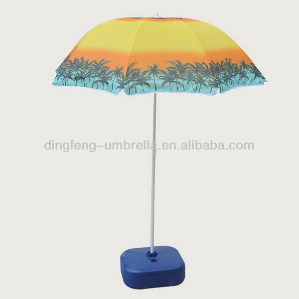 Import tilt beach umbrella with screw base made in China