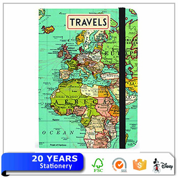 personalized graph paper travel themed notebook