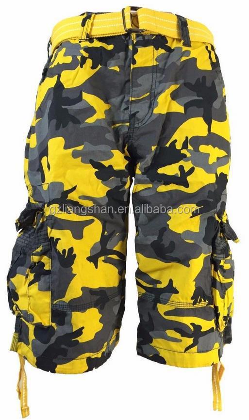 Fashion Military Camo Short Cargo Pants Men Trouser Short