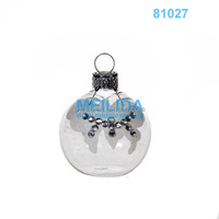 Wholesale Christmas ornaments clear glass place card holder