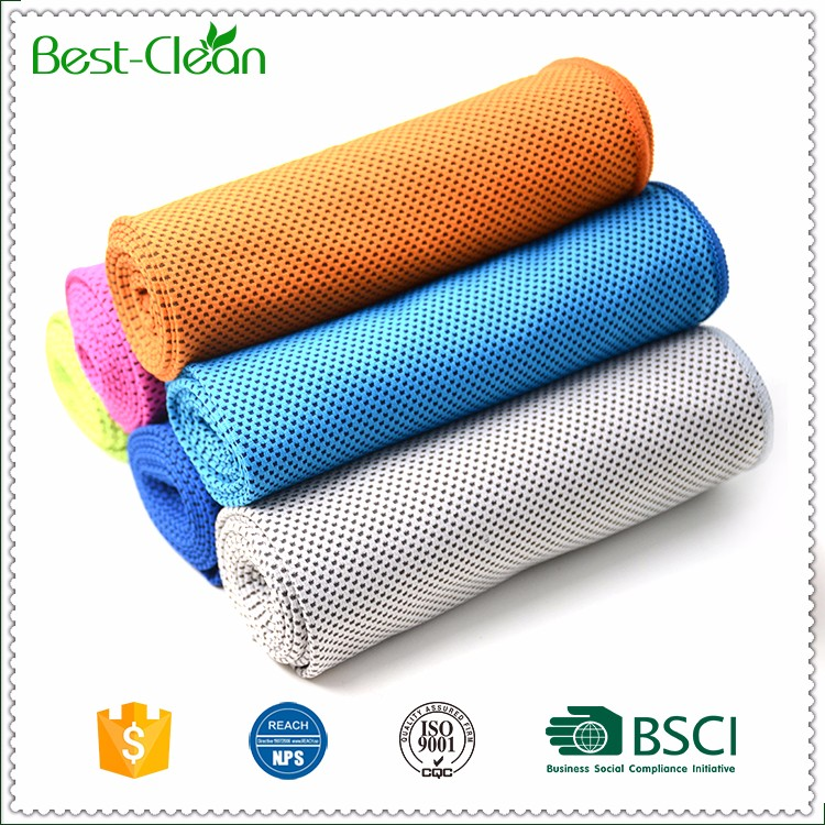 Custom Size Green Stay Cool Sports Towel