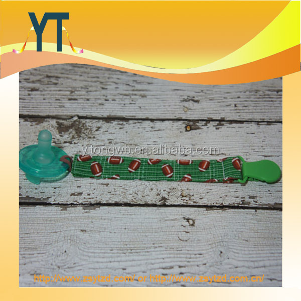 Funny Football Print Baby Pacifier Clip Holder,Pacifier Clip,Baby Gift,Teether Clip