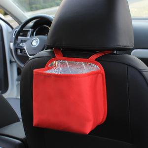 Cheap Price Promotion Car Back Seat Storage Bag Hanging Backseat Bag Adjustable Strap Car Insulation Sundries Organizer