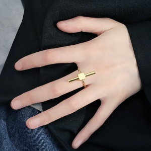 new factory hot fashion black simple designs ring gold