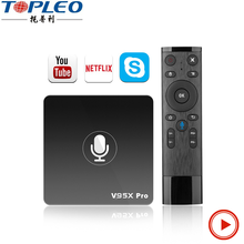 Fabriek prijs Google certificering full hd 3d video google android 7.1 tv box v95x pro met Q5 voice input air <span class=keywords><strong>muis</strong></span>