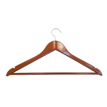 Closet Perfect Mahogany Wood Suit Hanger with Locking Bar